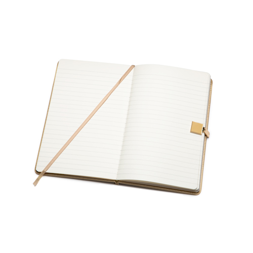 Journal notebooks with button and book mark open
