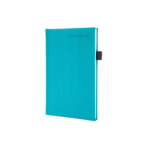 casebound hardcover notebook with pen holder front