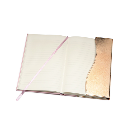 custom Journal notebooks open with bookmark