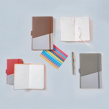 custom notebook with card pocket