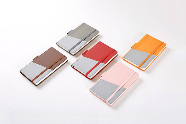 custom notebook with card pocket in different colors