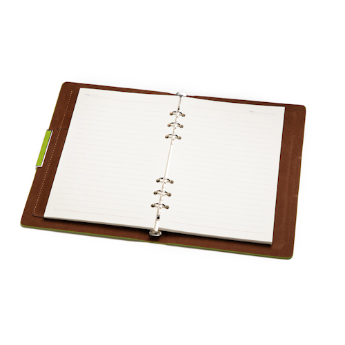 custom planner notebook open