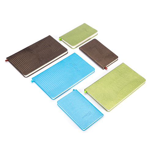 custom printed notebooks in different colors