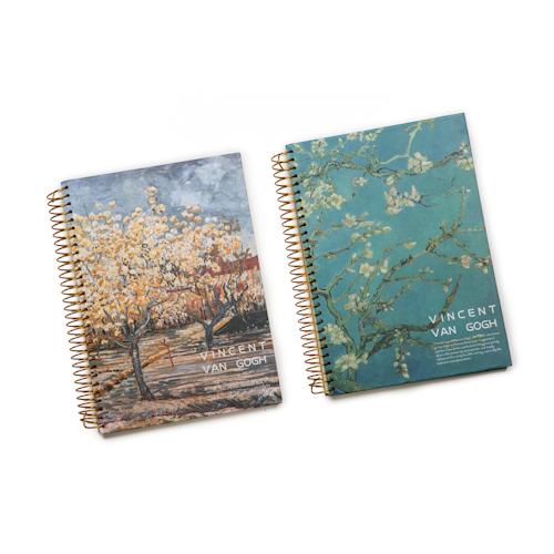 custom printed spiral notebooks in different design
