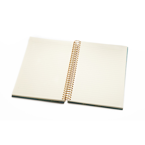 custom printed spiral notebooks open