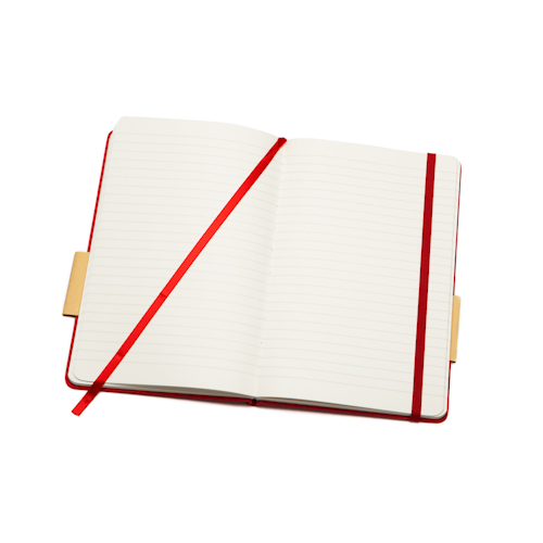 customised diary planner open with bookmark