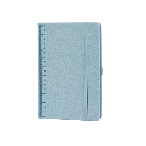 hardcover notebook ruled with elastic band and pen holder front