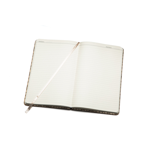 personalised notebooks open with bookmark