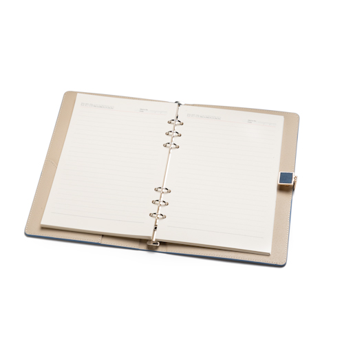 personalised refillable notebook open