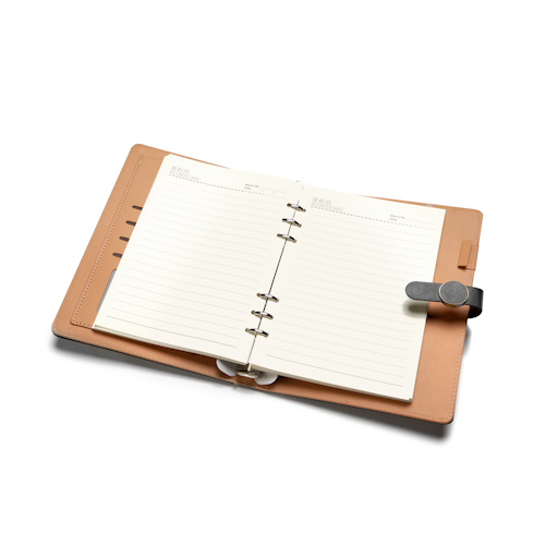 personalized agendas and planners open