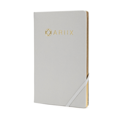 wholesale notebooks with logo and elastic band at side